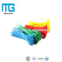 Lazos de la cremallera de cable de nylon de 4.8mm * 300Self-locking con UL94-V2, alta fuerza de fractura, aprobación del CE