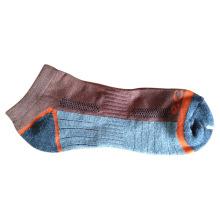 Calcetines de los deportes de Terry de las mujeres de los hombres con el algodón (fcs-05)