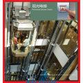 1m / S Petite salle de machine Ascenseur panoramique avec 6/6 Arrêt