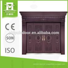 Novos produtos de alto brilho exterior villa cobre porta da China fabricante