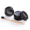 Marcado de sabor a menta de marca privada que activa los dientes para blanquear el polvo de carbón MOQ 50