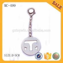 MC499 Custom engraved logo metal chain tag for bag