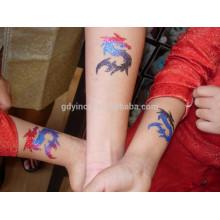 Poudre de paillettes avec autocollant de tatouage design unique
