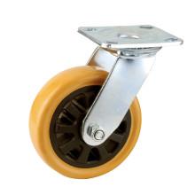 H9 Roulement à billes double type à usage intensif Type pivotant Roulette en PU