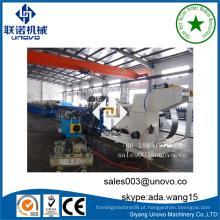 Máquina de fabricação de tubo de corte anterior