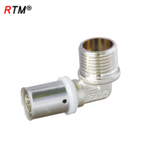 A 17 4 13 elbow brass press fitting pex al pex pipe press fitting male elbow