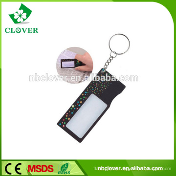Promotion plastic 1 LED for reading credit card magnifier with keychain