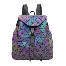 Laser diamond school bag geometric luminous backpacks