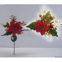 Plástico Decorativos Navidad poinsettia adornos Navidad recoge