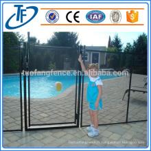 Intérieur en poudre acier sécurité pour enfants clôture de piscine