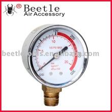 Calibre de pressão hidráulica do instrumento do vale - líquido enchido