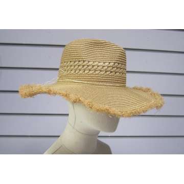 Fine Paper Braid Big Brim Fedora Sun Hats