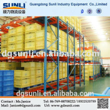 Warehouse storage gravity self-slide rack