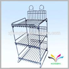 4 niveles de suelo plegable en polvo revestido de productos de alambre de metal pantalla rack