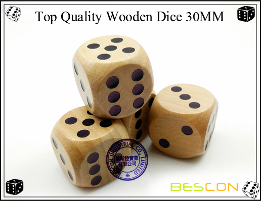 Top Quality Wooden Dice 30MM