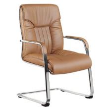 Chaise de bureau de conférence marron en cuir à haute densité (FOHC-16 #)