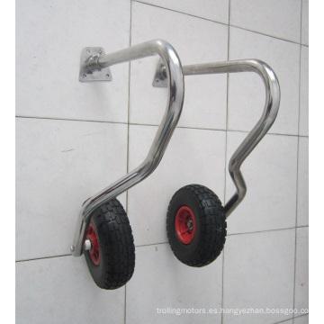 Prácticas ruedas de remolque de barco con plataforma rodante