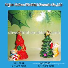 Venda por atacado personaliza a decoração do Natal do polyresin na forma do macaco