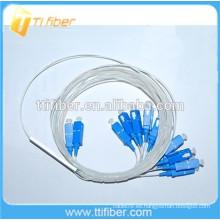0.9mm Mini Fibra Óptica PLC Splitter 2x16