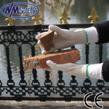 NMSAFETY 7G polycotton work gloves bulk natural polycotton hand safety gloves construction