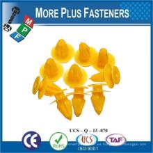 Hecho en Taiwán Plástico Gris Plástico Retainer Trim Fastener Push Tipo Fender Shield Clip Rivet