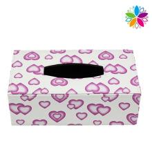 Lovely Design Rectangle Leather Tissue Box (ZJH069)