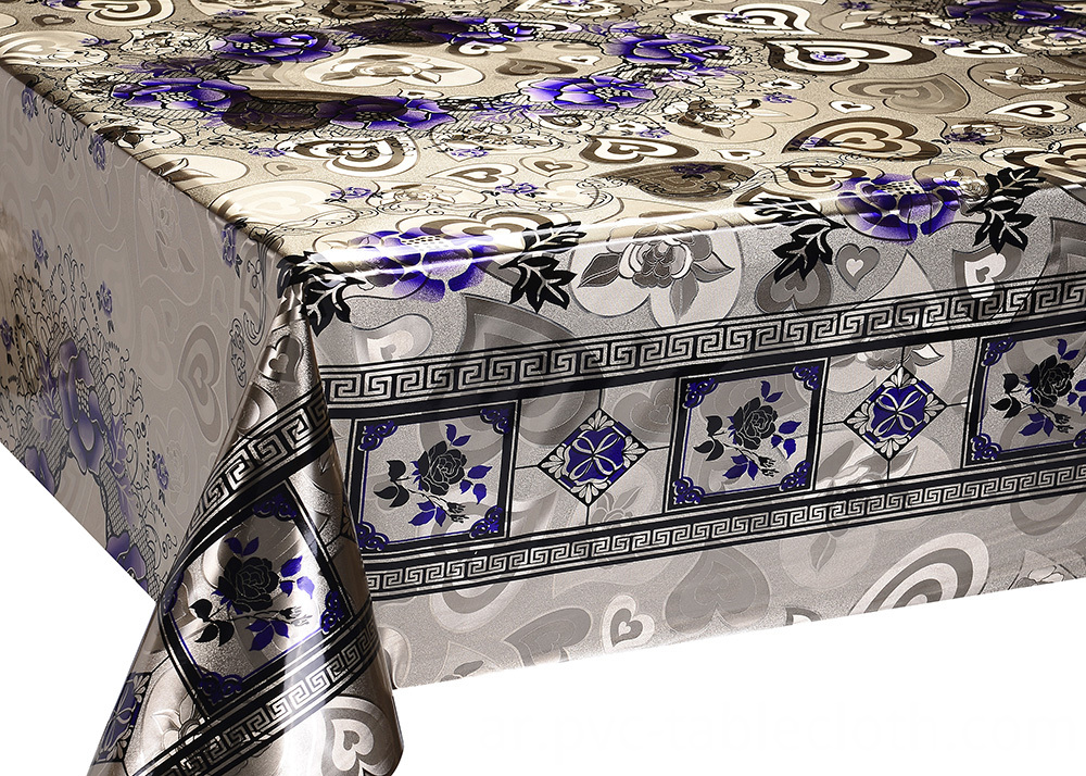 Double Face Emboss Gold Silver Tablecloth