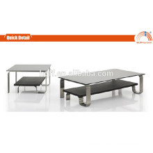 CT-10A ET-10A stainless steel glass modern coffee table