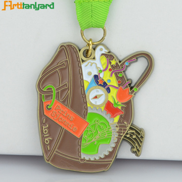 Metal Medal With Soft Enamel