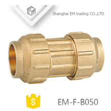 EM-F-B050 2 Way Brass Spain Diameter Compression Pipe fitting
