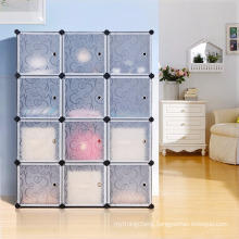 6 Cube Modular DIY Closet Cube Organizer With 3 tier Cubby Shelving Bookcase Cube Storage Cabinet