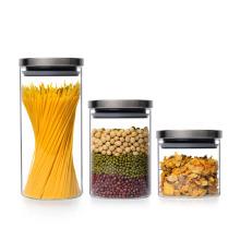 Frasco de comida, frasco de vidro, lata de cozinha com tampa, garrafa de armazenamento