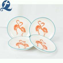 Custom printed design delicate decal ceramic plate