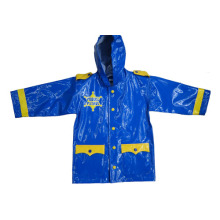 high quality cartoon design PU raincoats for kids