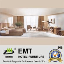 Dormitorio de hotel de madera de estilo simple conjunto (EMT-B0904)