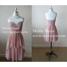 Sweetheart Hallo Lo Mini Kleid Nackt Partei Kleid Brautjungfer Kleid mit offenen Rücken BYE-14037