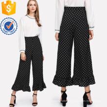 Повторяющийся горошек с оборками брюки Производство Оптовая продажа женской одежды (TA3093P)