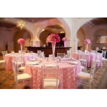 wedding style custom decorative round table cloth/table cover luxurious chair cover