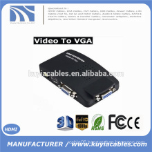 AV RCA Composite S-VIDEO Input to VGA Output Monitor Converter Adapter DVD CCTV