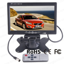 7 pulgadas de pantalla LCD digital Screem reversión del reposacabezas del monitor trasero