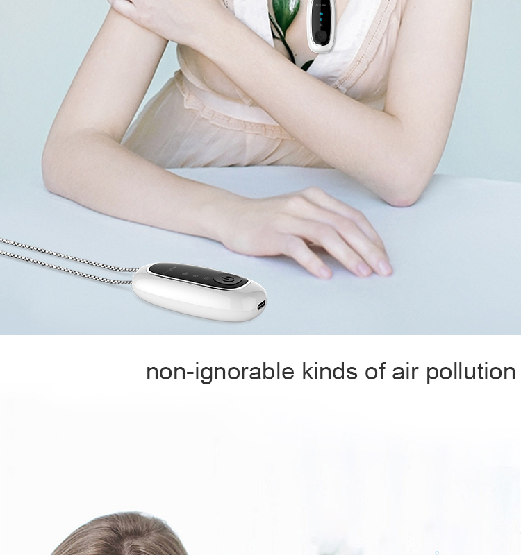 usb personal filter mini anion generator negative disinfection hepa oem portable ionizer ion purifier necklace air purifiers