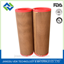 China manufacturer ptfe teflon coated fiberglass mesh belt