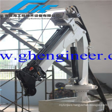 small size Electric hydraulic telescopic articulated boom provision marine folding lifting crane for sale