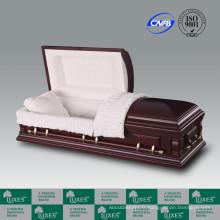 Haute qualité en gros placage américain cercueil cercueil pour enterrement
