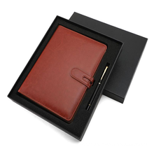 Brothersbox Customized Logo Colored PU Leather Notebook and Business Pen Gift Set