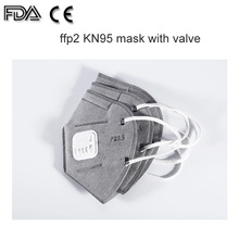 KN95 N95 desechable Earloop Fold máscara con válvula