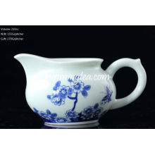 """""""Butterflies Lingering Over Flowers"""" Painting Blue & White Pitcher, 200cc/pitcher"""