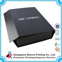 Alibaba China plegable duro zapato de regalo negro pequeña caja de cartón personalizada al por mayor