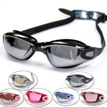 Gafas de natación de goma de silicona con capacidad para 2015 con lente de PC