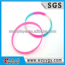 Colorful silicone brace lace for kids, cheap silicone wrap bracelet